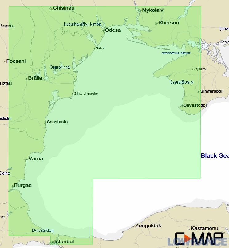 Карта C-МАР EM-N120 - Западная часть Черного моря