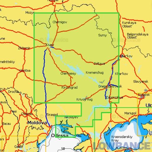 """Карта Navionics 5G612S2 """"Река Днепр (полное покрытие)"""""""