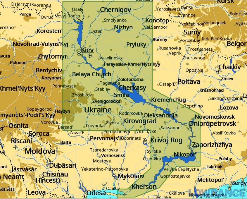 Карта С-МАР MAX-N + EN-Y084.40 - Ріка Дніпро