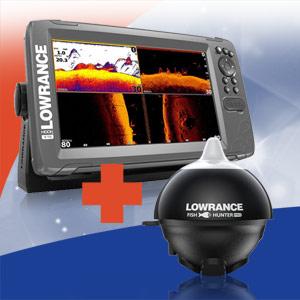 Акція! При купівлі ехолотів Lowrance HOOK2 TripleShot, портативний ехолот FishHunter Pro у подарунок