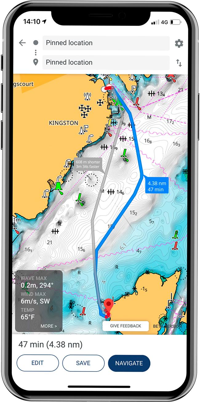 Приложение Lowrance: Fishing & Navigation доступно в бесплатной и премиальной версии